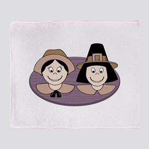 Pilgrim Couple Throw Blanket